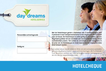 daydreams hotelcheque
