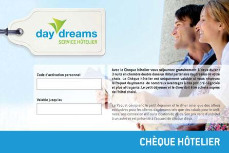 chèque hôtelier daydreams